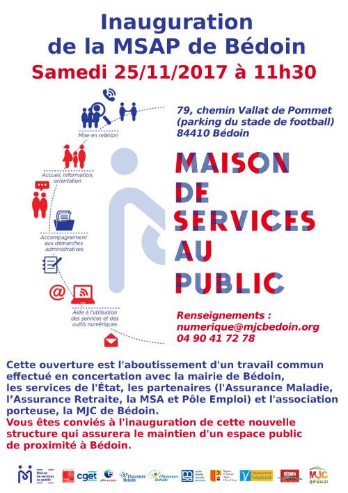 Inauguration MSAP de Bédoin